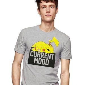 NEW FASHION POKEMON MEN'S GRAY T-SHIRT